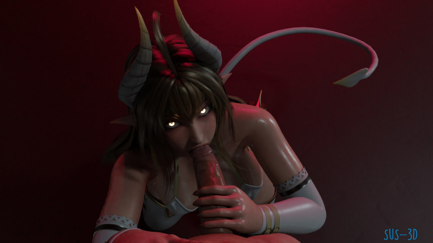demon with eyes glowing green Lara croft and horse hentai
