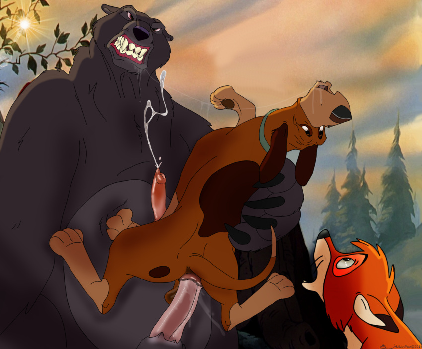 the hound and the chief fox Happy tree friends giggles and cuddles